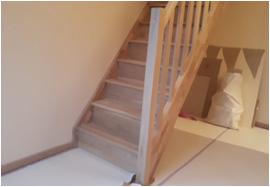 Montage van een trap